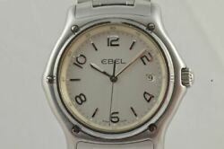 Ebel 1911 Menand039s Watch Steel 1 5/8in Top Condition With Orig. Bracelet 9187251