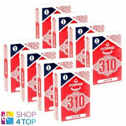 8 Decks Copag 310 Gaff Poker Playing Cards Paper Standard Index Blue Red New
