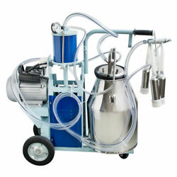 25l Portable Electric Milking Milker Machine For Farm Cow 304 Stainless Bucket