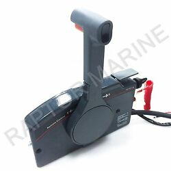 Side Mount Remote Control Box For Yamaha Outboard 7 Pin Cable Push Throttle
