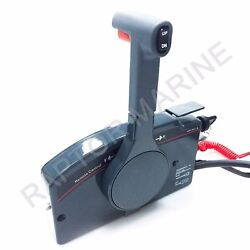 Side Mount Remote Control Box For Yamaha Outboard, 10 Pin Cable, Pull Throttle