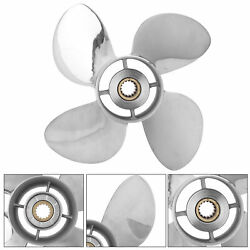 4 Blades Outboard Propeller Stainless Steel 13 X 19 Rh Pitch For Yamaha 50‑130hp