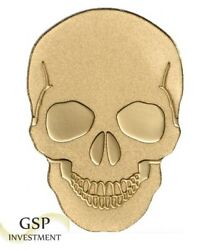 Golden Coin Skull In Gold 0.5g Pure Gold 9999