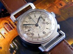 Vintage 1940's 'nord-watch' Drivers Chronograph.all Stainless-steel