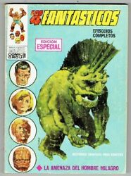 Fantastic Four 3-4 1st Print Spain Comic Painted Lopez Espi Cover In Spanish