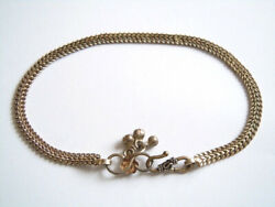Silver Foot Chain Anklet With Bells Pendant Stamp Abpl 0.4oz/11 3/16in