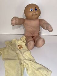 Vintage 1983 Coleco Cabbage Patch Kid Doll Bald Baby Boy In Jammies