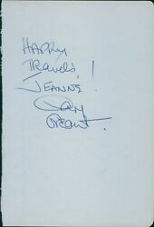 Cary Grant And Jack Benny Signed 4.5x6 3/4 Album Page Jsa Authenticated