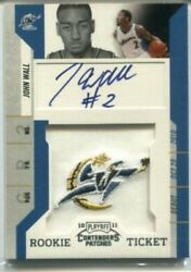 2010-11 Panini Contenders Patches Rc 101 John Wall Team Logo Auto Autograph
