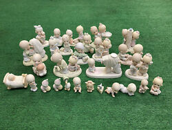 Precious Moments Lot Of 28 Figurines 1983-1990 Collection Christmas Anniversary