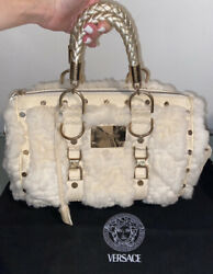Authentic Gianni Versace Rare Fur Bag Excellent Condition From Versace In Italy