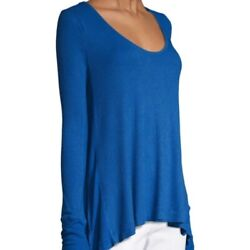 We The Free People Royal Blue Malibu Thermal Long Sleeve Top Size Xs