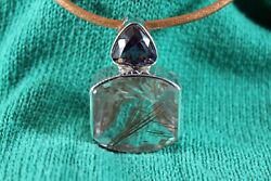 Sterling Silver Amethyst And Rutile Quartz Necklace