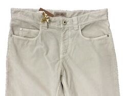 Loro Piana Beige 5 Tasche Cotton Corduroy Pants Size Us 40 Made In Italy