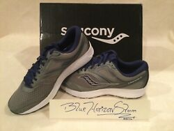 New Size 12 Wide - Saucony Mens Versafoam Cohesion 12 Running Shoes - Grey/blue