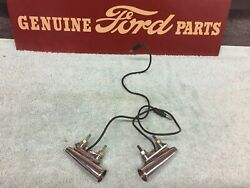 1950and039s 1960and039s New Front Fender Ornaments With Lights Left And Right 12volt Ford Gm