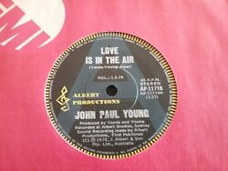John Paul Young Radio Station A Promo Sample Love Is In The Air 45 7 Australia