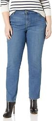Lee Womenand039s Relaxed Fit Straight Leg Jean Pants