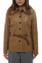 Used __louis Vuitton Jacket Lambskin Lamb Leather With Belt Free Shipping