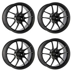 Enkei Pf01evo 18x9.5 +12 5x114.3 Mbk From Japan [4 Rims Wheels ] Jdm