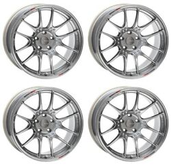 Enkei Gtc02 17x7.5 +35 4x100 Hs From Japan [4 Rims Wheels ] Jdm
