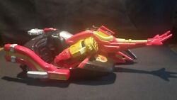 Bvs Bandai Red Power Rangers Motor Cycle With Sidecar 2002 Motorcycle Used