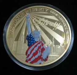 Statue Of Liberty Medal Colorized Oversized Really Big And Really Pretty
