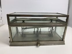 Torsion Balance Co Beam Scale Glass Case Vintage Does Not Work. Please Read. 269