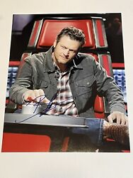 Blake Shelton Signed Autograph The Voice Country Star Singer 11x14 Photo W Coa