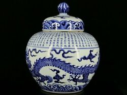 16and039and039 China Antique Pot Blue And White Porcelain Pot Pottery Tank Hxcc