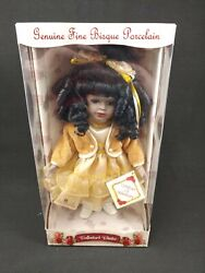 Rare Collectors Choice African American Porcelain Doll With Curls Le/nib/coa
