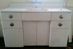 50and039s Antique Kitchen Vintage Metal Cabinet And Sink Youngstownandnbsp