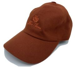 Loro Piana 100 Cashmere Rust Storm System Baseball Cap Size M Made In Italy