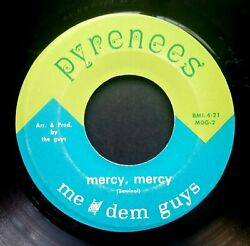 Me And Dem Guys Smiling Phases/mercy Us Vinyl 7 45 Pyrenees 1969