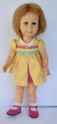 Vintage 1960 Soft Face Blonde Chatty Doll Phototype Light Blue Eyes Freckles