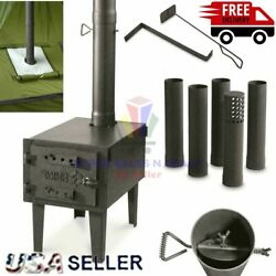 OUTDOOR WOOD BURNING STOVE Steel Camping Survival Tent Grill Cooking Portable $161.28