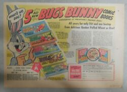 Quaker Cereal Ad Bugs Bunny Comic Books Premium From 1950's 7 X 10 Inches