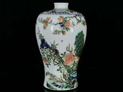 13.2and039and039 China Antique Vase Five-colored Porcelain Vase Old Pottery Bottle Hxcc