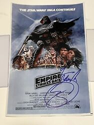 Frank Oz Yoda Star Wars Esb Signed Autographed Rare 12x18 - K9 -proof