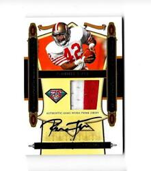 Ronnie Lott 2008 Playoff National Treasures Gw 2 Color Jersey Autograph And039d 9/10