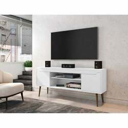 Bradley 62.99 Tv Stand With 2 Media Shelves And 2 Storage Shelves By Manhattan