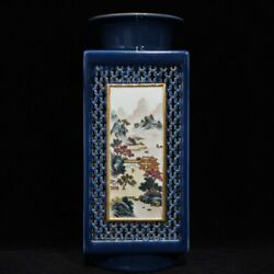 13.1and039and039 China Antique Vase Five-colored Porcelain Vase Pottery Bottle Hxcc