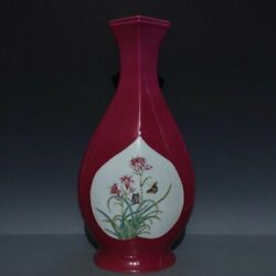 16and039and039 China Antique Vase Five-colored Porcelain Vase Pottery Bottle Hxcc