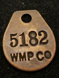 Early Mine Mining Company Tag Wmp Co Copper Badge 5182