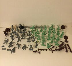 Vintage Marx Fighting Knights Castle Playset Lot 4635 Vikings And Accessories