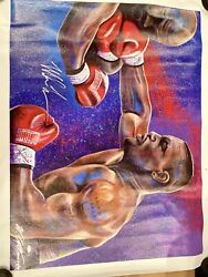 William Lopa Limited 39/44 Signed Mike Tyson Canvas 36 X 40