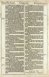 1611 King James Bible Leaf. Rom. 8 All Things Work Together For Good. And039heand039 Bible