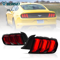 5 Model Red Led Tail Lights For Ford Mustang 15-19 Sequential Indicator Assembly