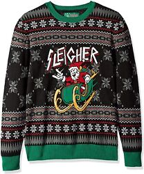 Ugly Christmas Sweater Company Menand039s Assorted Santa Crew Neck Xmas Sweaters