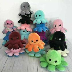 Reversible Flip Octopus Plush Stuffed Toy Soft Animal Home Accessories Baby Gift $12.69